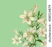 lily flower watercolor... | Shutterstock . vector #408514879