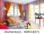 hand holding measurement tape... | Shutterstock . vector #408518371