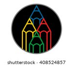 colorful pencils stationery...   Shutterstock .eps vector #408524857