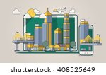 colorful city background | Shutterstock .eps vector #408525649