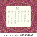 May 2016 Monthly Calendar Over...