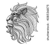Ethnic Patterned Head Of Lion ...