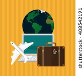 illustration of travel with... | Shutterstock .eps vector #408542191