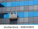 group of workers cleaning... | Shutterstock . vector #408543841