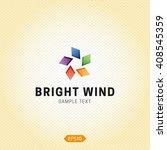bright wind logo design.... | Shutterstock .eps vector #408545359