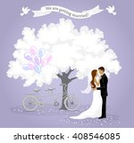 we are getting married... | Shutterstock .eps vector #408546085
