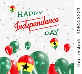 ghana independence day... | Shutterstock .eps vector #408553201