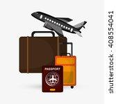 travel illustration design ... | Shutterstock .eps vector #408554041