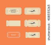 ticket icons vector set... | Shutterstock .eps vector #408555265