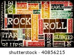 Rock And Roll Music Poster Art...