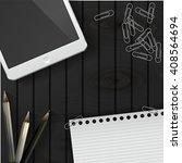 flat lay vector illustrations... | Shutterstock .eps vector #408564694