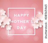 Stock vector happy mothers day retro background 408565465