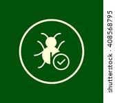 bug fixed icon. vector eps10...