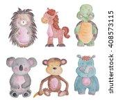 Animals Baby Set Watercolor...