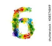 color paint splashes. gradient... | Shutterstock .eps vector #408574849