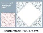 vector die laser cut wedding... | Shutterstock .eps vector #408576595
