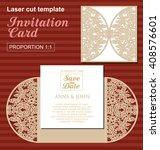 vector die laser cut wedding... | Shutterstock .eps vector #408576601