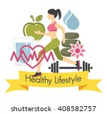 healthy lifestyle | Shutterstock .eps vector #408582757