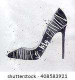 poster women high hill footwear ...   Shutterstock .eps vector #408583921