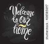 hand lettering typography... | Shutterstock .eps vector #408585697