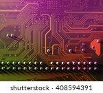electronic circuit board  close ... | Shutterstock . vector #408594391