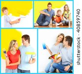 renovation. young family... | Shutterstock . vector #40859740