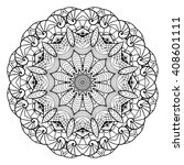 adult coloring page. mandala... | Shutterstock .eps vector #408601111