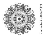adult coloring page. mandala... | Shutterstock .eps vector #408601171