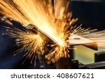 spot welding industrial... | Shutterstock . vector #408607621