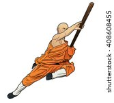 Shaolin Monk With Staff