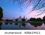 The Victoria Memorial At Sunse...