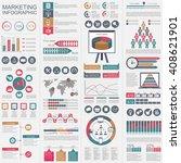 infographic marketing vector... | Shutterstock .eps vector #408621901