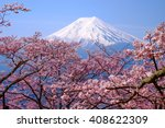 mt fuji and cherry blossom  in... | Shutterstock . vector #408622309