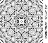 adult coloring page. seamless... | Shutterstock .eps vector #408624559