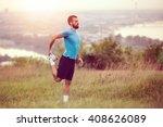 Athletic Runner Doing...
