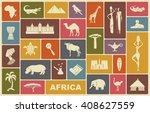 africa jungle ethnic culture... | Shutterstock .eps vector #408627559