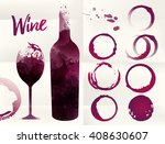 illustration of glass and... | Shutterstock .eps vector #408630607