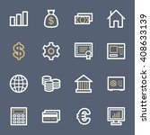 money web icons | Shutterstock .eps vector #408633139