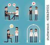 gay relationship story of a... | Shutterstock .eps vector #408634531