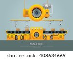 machine and manufacture vector  | Shutterstock .eps vector #408634669