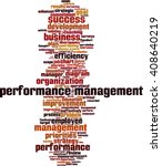 performance management word... | Shutterstock .eps vector #408640219