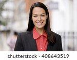 portrait of a businesswoman...   Shutterstock . vector #408643519