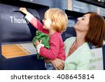 a mother and daughter recycling ... | Shutterstock . vector #408645814
