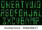 english alphabet letter... | Shutterstock . vector #408648817