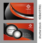 orange modern abstract business ... | Shutterstock .eps vector #408655981