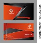 business card template. elegant ... | Shutterstock .eps vector #408659635