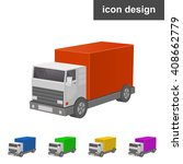 truck 3d web icon | Shutterstock .eps vector #408662779