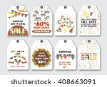 Price Sale Tags Set For The...