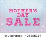 mother's day sale inscription... | Shutterstock .eps vector #408668197