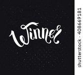 centered winner text in ribbon... | Shutterstock .eps vector #408669181